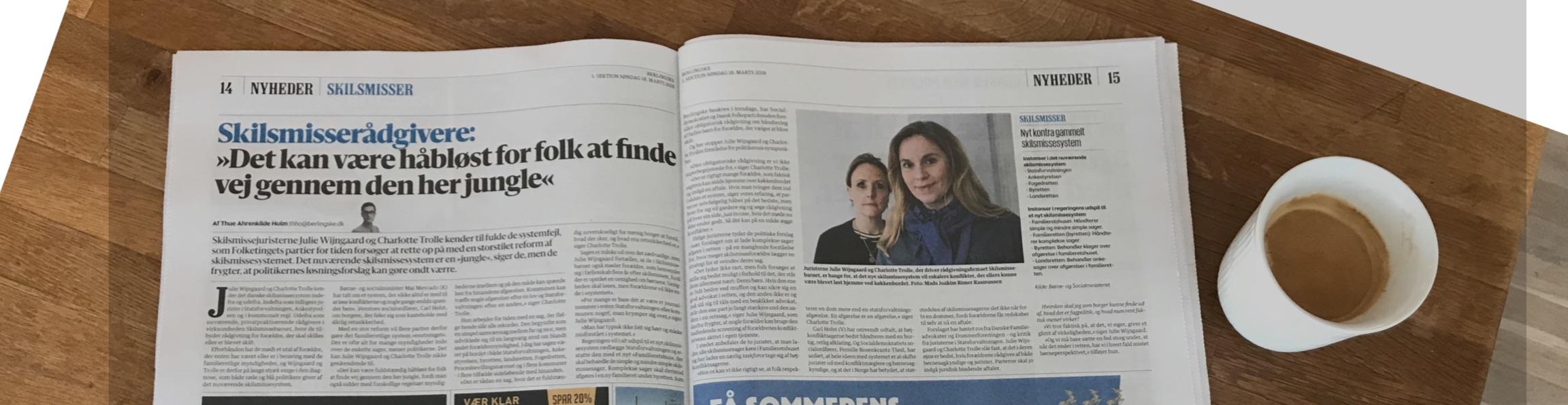 """Artikel i Politiken: """"Højesteret straffer chikane: Far får bopæl og forældreret, fordi mor skjuler barnet"""", 5. okt 2020."""